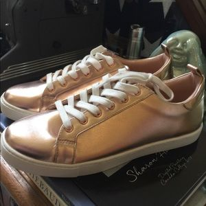 Rose Gold Aldo Sneakers NWT size 8